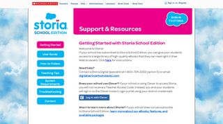 Storia Support and Resources