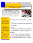So You're Parenting a Kindergartener