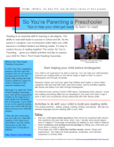 So You're Parenting a Preschooler