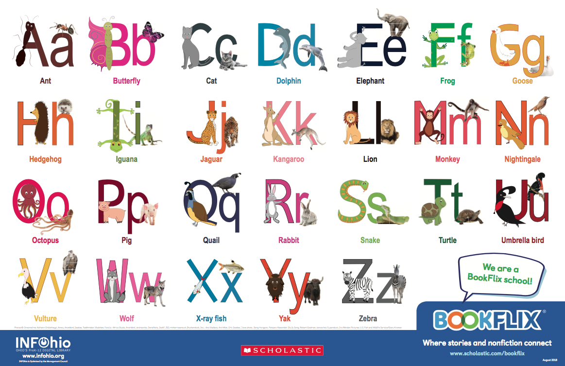BookFlix Alphabet Animals Poster
