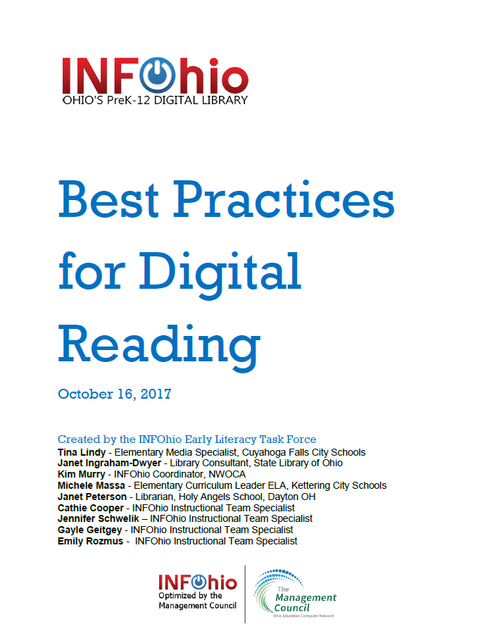 Best Practices for Digital Reading