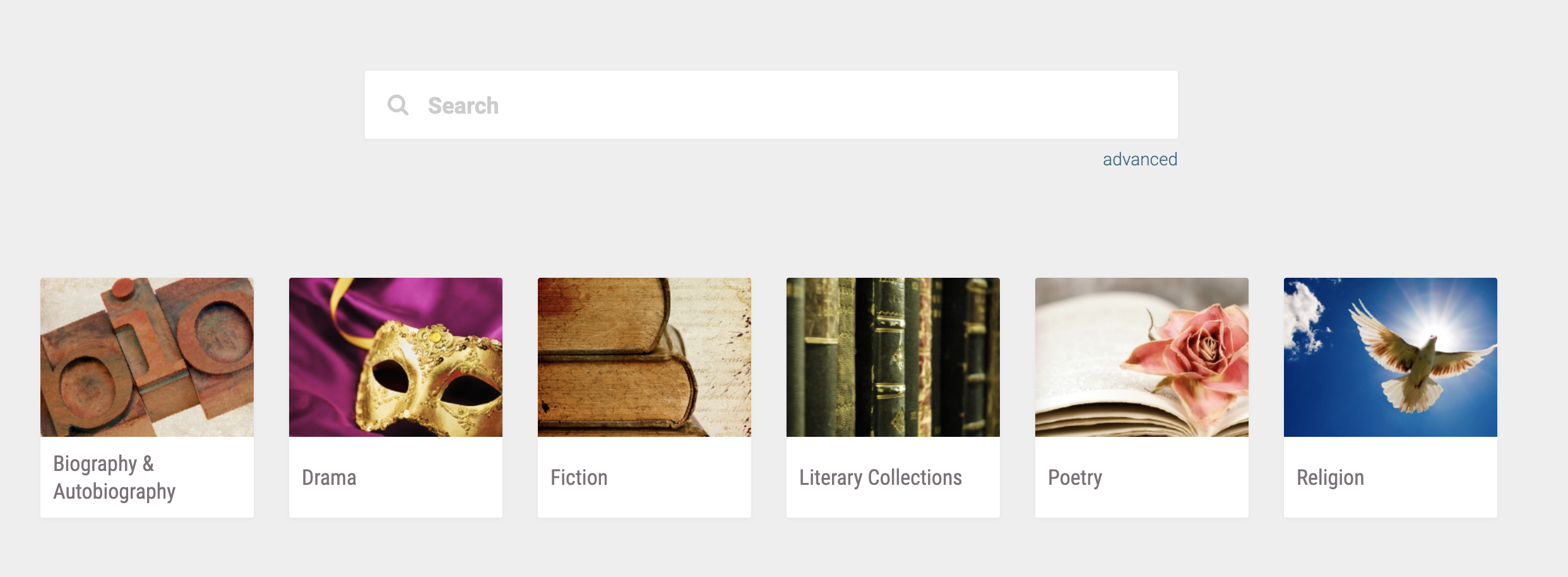 Enhancements to Literature Online: American and English Literature Collection
