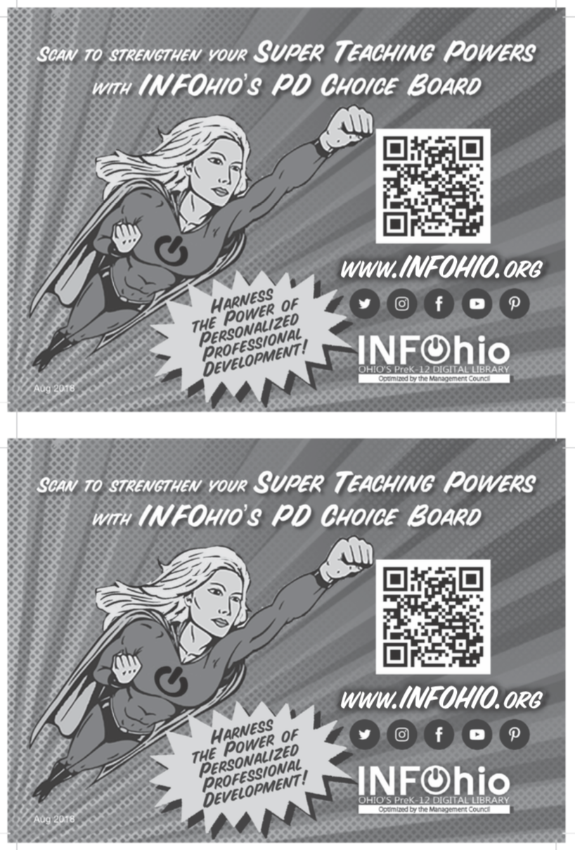 Professional Development Postcard (B/W)