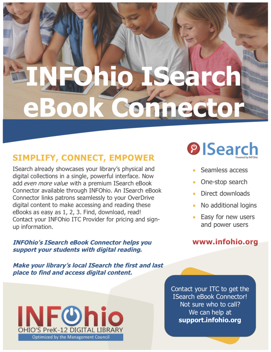 INFOhio ISearch eBook Connector Flyer