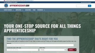 Apprenticeship.gov: U.S. Department of Labor
