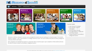 Teacher's Guide: Research 4 Success (R4S)